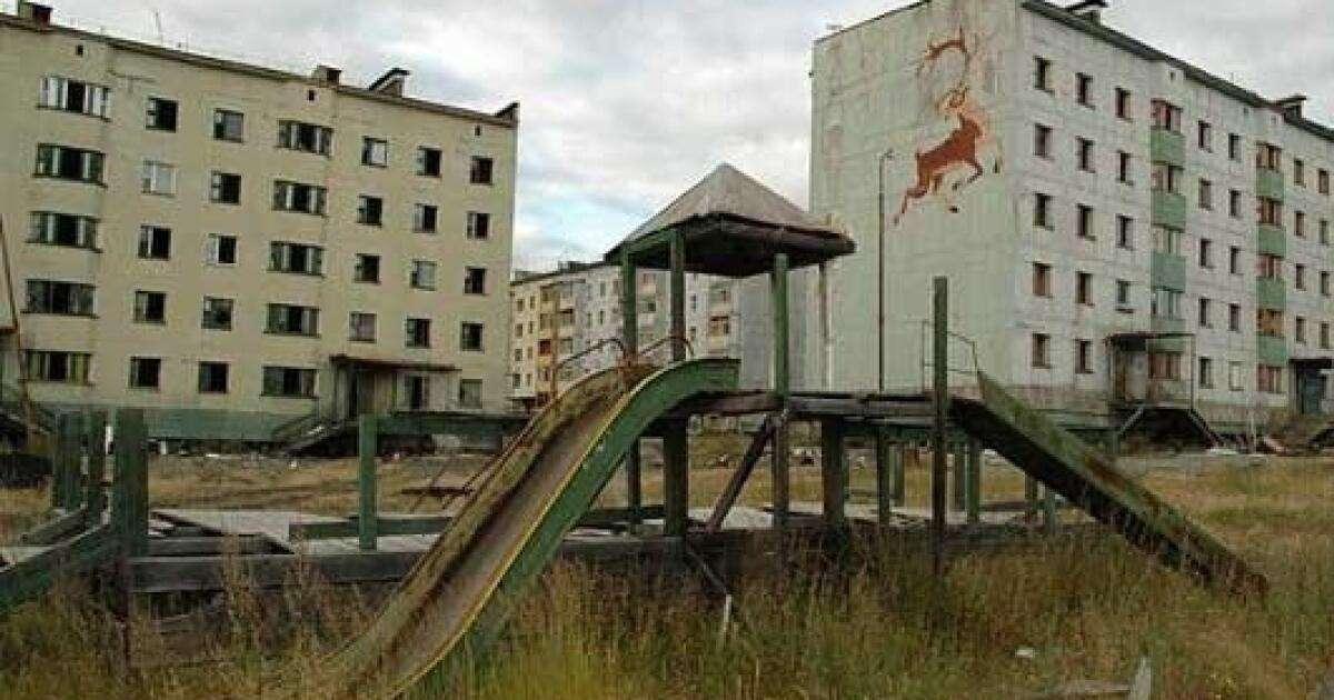 Města duchů: Kadykčan. Děti si nestihly sbalit ani hračky.